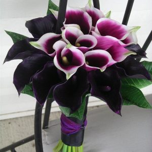 Purple Cala Bridesmaids Bouquet