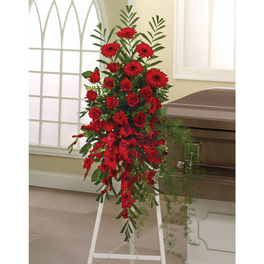 Red Funeral Spray